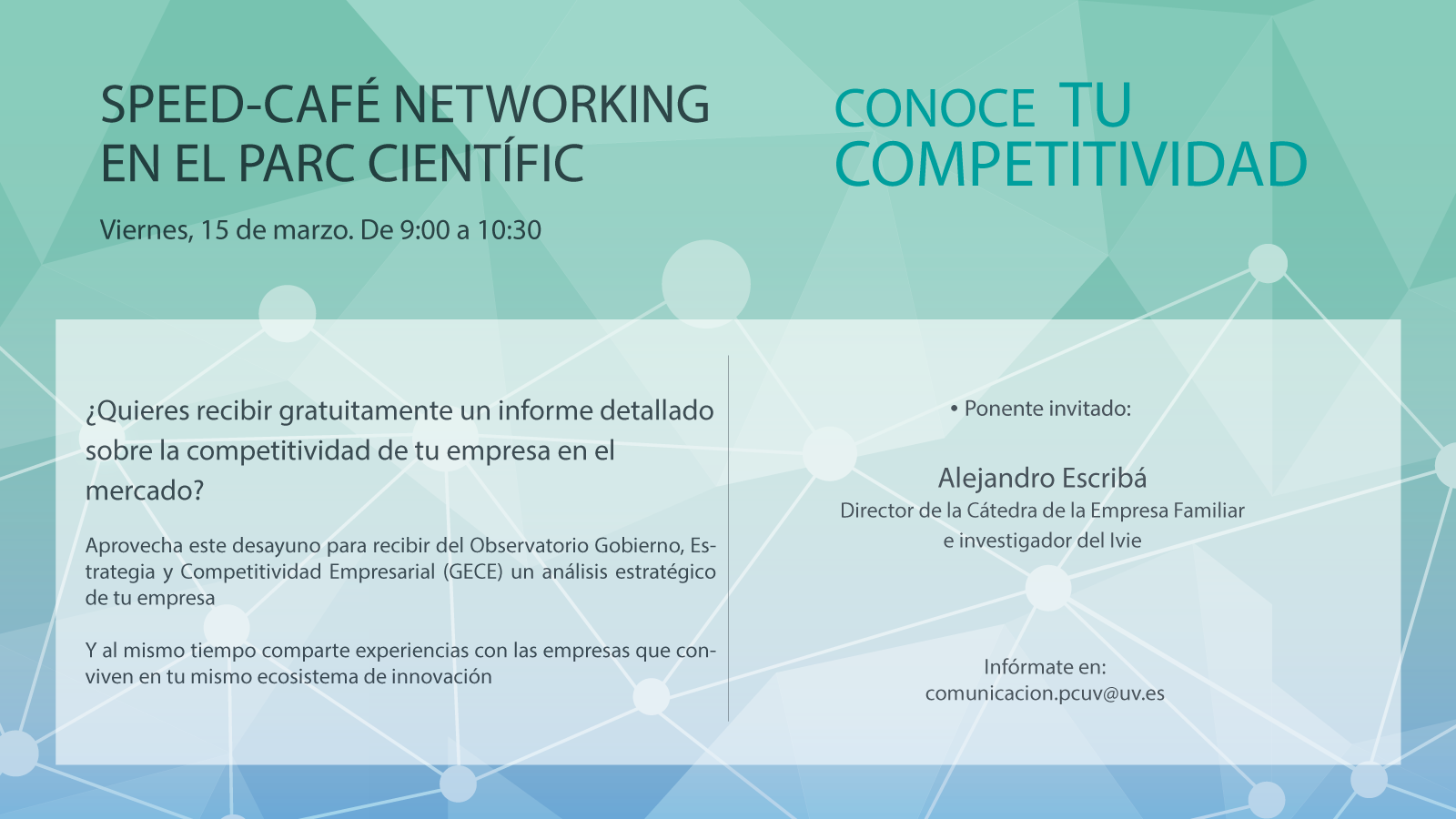 Speed-Café Networking con el Observatorio GECE