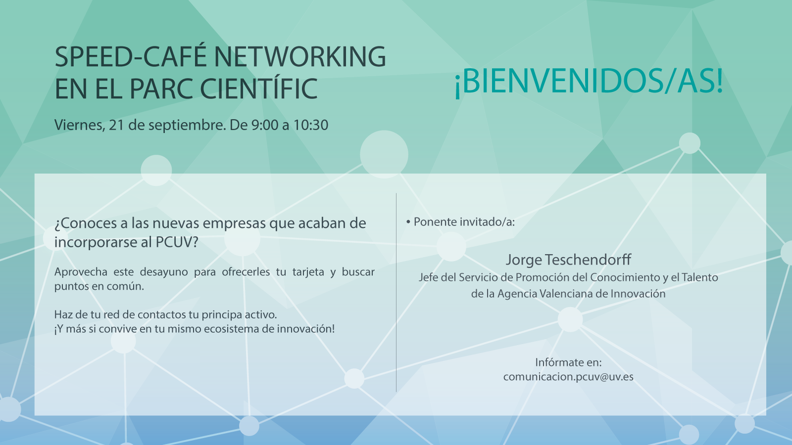 Speed-Cafe Networking: ¡Bienvenido/as!